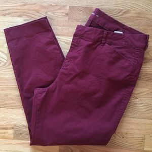 Old Navy plum pixie pants size 16
